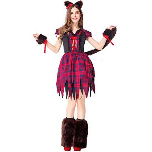 Kostüm Verkleiden Oma - ASDF Halloween Kostüm Wolf Kostüm Drama Bühnenauftritt Wolf Oma verkleiden Sich