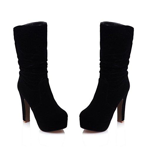 A&N - Pantofole a Stivaletto donna Black