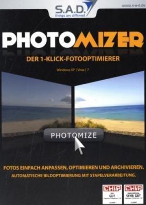 Photomizer, CD-ROM Der 1-Klick-Fotooptimierer. Fotos einfach anpassen, optimieren und archivieren. Automatische Bildoptimierung mit Stapelverarbeitung. Für Windows XP/Vista/7