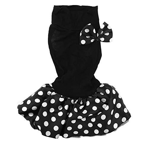 Duokon Pet Sommer Tuch Kleine Hund Kleid Welpen Prinzessin Blase Rock Hochzeit Kostüm Bekleidung Kleidung Schwarz - Schwarze Und Weiße Welpen Kostüm