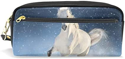 Matita di grande capacità titolari Winter Snow Snow Snow Field bianca Horse Run penna cancelleria della borsa con cerniera trucco | Molto apprezzato e ampiamente fidato dentro e fuori  | Sulla Vendita  | Prestazioni Superiori  7f15a8