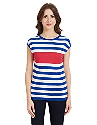Pepe Jeans Womens Cotton Pullover (PIL0001578 4_Royal_Medium)