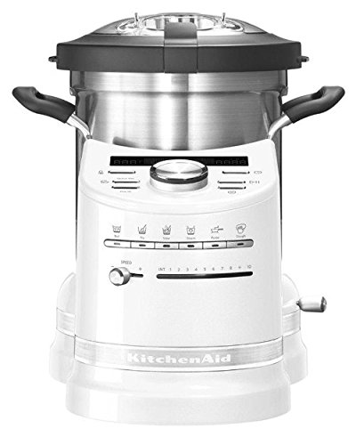 KITCHENAID 5KCF0103EFP/4 Artisan Küchenmaschine mit Kochfunktion Weiß 1500 Watt