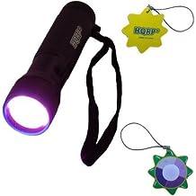 HQRP Profesional Linterna 12 LED UV Ultravioleta 365 nM Antorcha lámpara más HQRP Medidor del sol