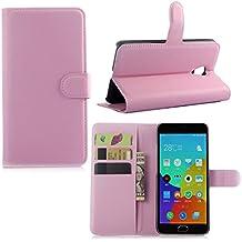 Guran® Funda de Cuero Para Meizu M2 Note (5,5 pulgada) Smartphone Tirón de la Cubierta de la Función de Ranura Tarjetas y Efectivo Caso