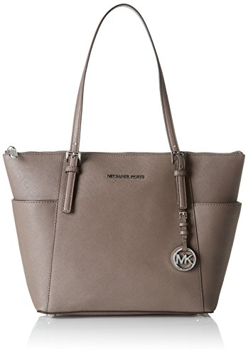 Michael by Michael Kors Jet Set Cinder Medium Top Zip Tote one size Cinder