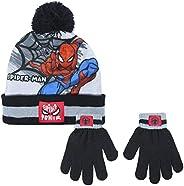 CERDÁ LIFE'S LITTLE MOMENTS 2200005852 Set di Guanti e Cappello di Spiderman, Azul y Negro, Solo B