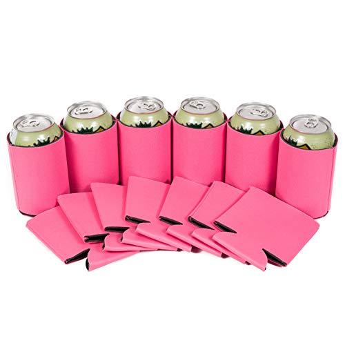 (Premium blanko können Kühler Ärmel Soft Drink klappbar Isolator Kühler neon pink)