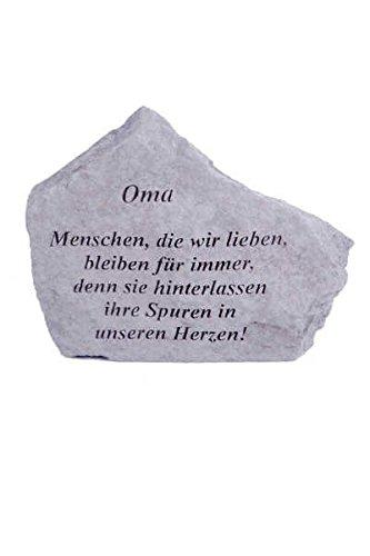 """Gedenkstein \""""Oma...\"""" aus Steinguss 18 x 14 cm Grabschmuck"""