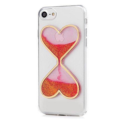 Mavis's Diary Coque iPhone 7 (4.7'') Étui Housse de Protection TPU Silicone Coque Liquide Antichoc Ultra Mince Léger Souple Flexible Portable Douce Phone Case Cover + Chiffon - Rouge