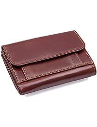 75c954733de76 Herren Geldbörse Münzfach Minimalistische 2 ID Fenster RFID PU Leder  Brieftasche Bifold Top Flip Extra…
