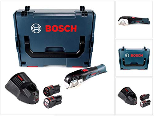 Bosch GUS 12V-300 Professional Akku Universalschere in L-Boxx + 2 x GBA 12 V 3,0 Ah Akku + 1 x GAL 1230 Ladegerät