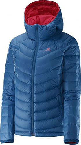 Salomon Giacca Piumino Donna Halo Hooded Jacket II W, Dolomite Blue (Size M)