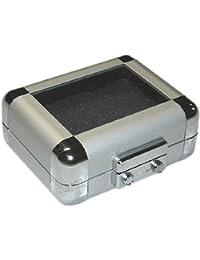 hCase2: MINI Alukoffer / Minikoffer mit transp. Deckel, inkl. Slings & Schaumstoffen - 4x10x9,2cm