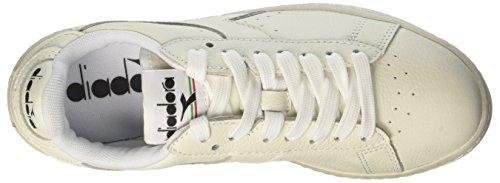 Diadora Game L Low Waxed, Sneaker a Collo Basso Unisex – Adulto Bianco