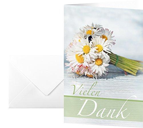 """Sigel DS046 Dankes-Karten """"Vielen Dank"""", 10 Stück mit Umschlägen"""