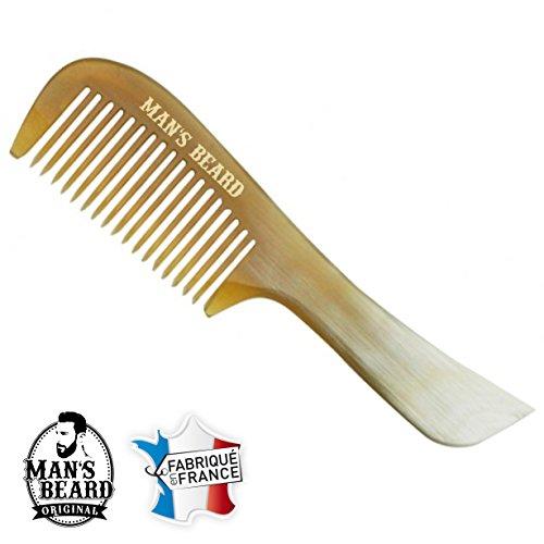 Man 's Beard–Kamm mit Schnurrbart und Bart–Französisches Produkt aus Horn Reichswald (Schnurrbart Horn Kamm)
