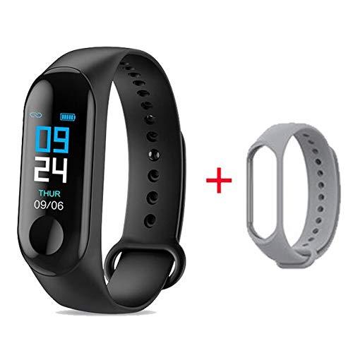 Smart Watch Bracelet Heart Rate Monitor Fitness Tacker Smartwatch Reloj For APPLE/Xiaomi/Lenovo Men/Women Montre Connect L3 (with gray strap)