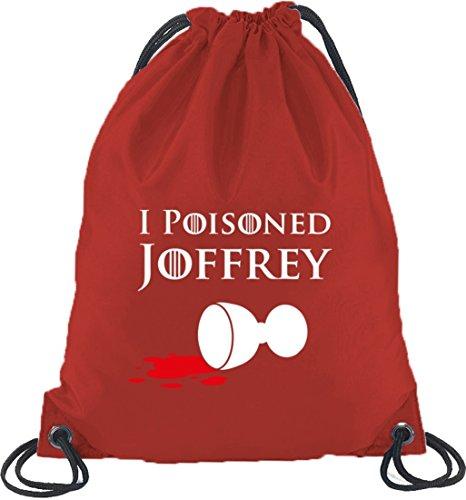 Shirtstreet24, I Poisoned Joffrey, Turnbeutel Rucksack Sport Beutel Rot