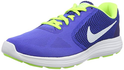 Nike Herren Revolution 3 Trainingsschuhe, Mehrfarbig (Racer Blue/White-Volt-Black),42 EU (7.5 UK)