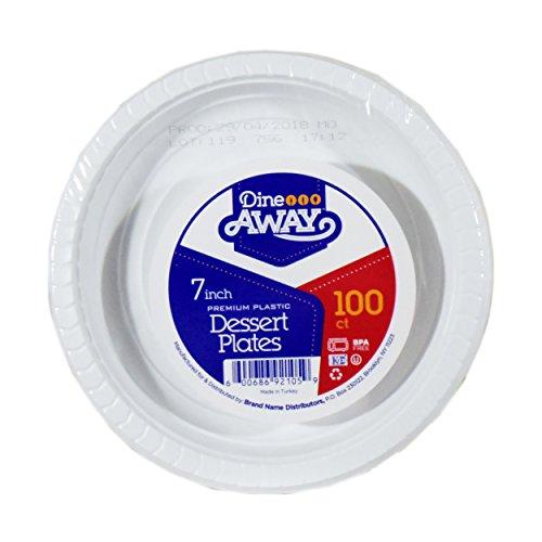 Distributor Plate (Dine Away Premium Kunststoff Abendessen Teller 7 Inch)