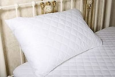 Zipped King Size Extra Large Quilted Cotton Blend Pillow Protector 50cm x 90cm