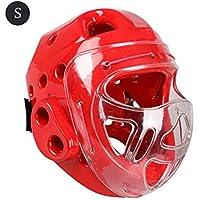 StageOnline Combat Headgear Combat Protective Helmet - Adultos Protección para la Cabeza de niños para el Boxeo de Karate Taekwondo