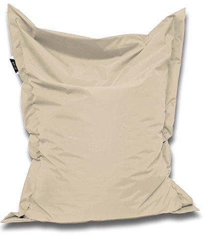 Sitzsack und Sitzkissen eckig  Creme - 180x145cm - in 25 Farben und 7 versch. Größen