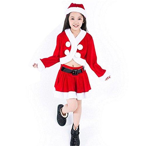 Kostüm Jungen Sportswear Für (Kleid mädchen Kolylong® Hot Sale! 1 Set (2-5 Jahre alt) Kinder Mädchen Weihnachten Cosplay Kleidung Party Kleid Abendkleid Christmas Outfits Weihnachten Kostüm Weihnachtskleid (110CM (4 Jahre alt),)