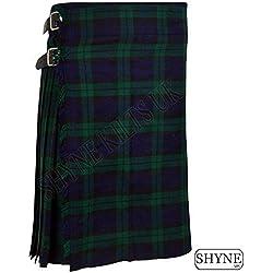SHYNE KILTS U.K - Falda - falda escocesa - Hombre multicolor Verde Azul 102 cm