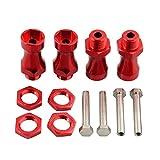 Toyvian 1 Satz von erweiterten hsp 30mm Auto Rad Staubschutzkappe für hsp 1:10 bis 1: 8 RC Modellauto Ersatzteile Universal Zubehör Combiner (rot)