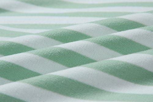ASSKDAN Damen Gestreift Pulli Sweatshirts Hoodie Sport Langarm Reißverschluss Pullover Outerwear (EU 38/M, Grün) - 5