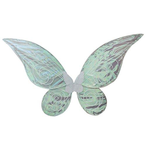 Farbwechsel Tanz Kostüm - FLAMEER Elegant Feenflügel Schmetterlingflügel Elfenflügel Engelflügel Kostüm Zubehör für Mädchen zum Cosplay Geburtstag und Tanz - Weiß, 62cm * 52cm