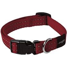 Rogz Collar para Perro Collar con Cinta reflectora Cosida de 1,59 cm