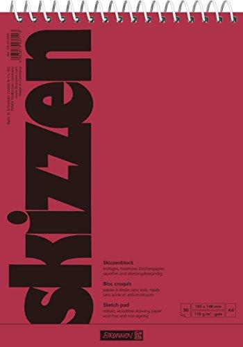 Brunnen 1047650 Zeichen-/Skizzenblock (A6, 110g/m², 30 Blatt, mit Spirale)