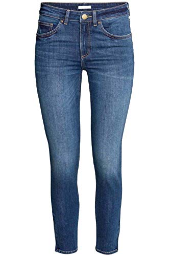 Jeans Enthusiastic 1pc Women High Waist Jeans Stretchy Dark Blue Button Fly Denim Skinny Pants Trousers With Pocket Bottoms