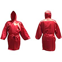 Boxeo Manto rojo tamaño junior menor Abrigo para boxeo kickboxing promoción