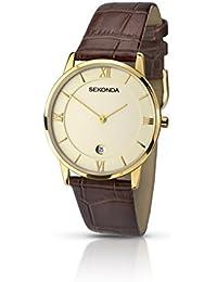 SEKONDA 1041.27 - Reloj de cuarzo para hombres, color marrón