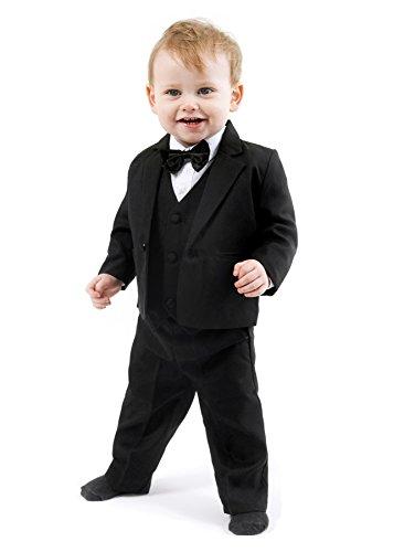 Schicker Taufanzug/Baby-Anzug 5-teilig, schwarz Uni, ca. 6-9 Monate (74)
