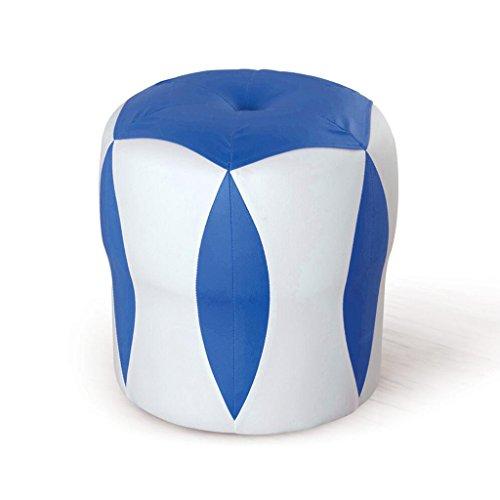 Tabouret de canapé Xuan - Worth Having Tabouret de Fleur Blanc + Bleu Tabouret Bas Changer de Chaussures Tabouret de Maquillage en Cuir pour Enfants Tabouret imperméable à l'eau (33 * 33 * 35cm)