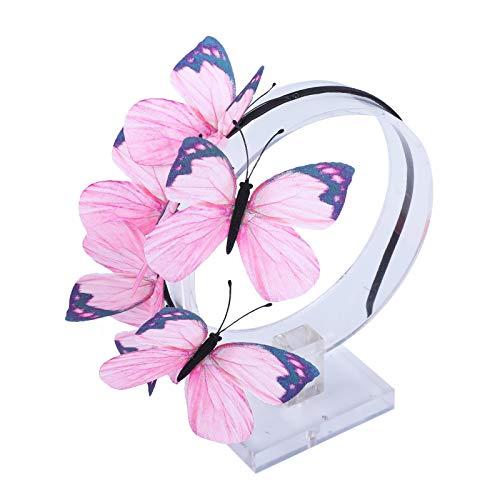 AWAYTR Schmetterlings Stirnband für Damen Mädchen Schmetterlings Haarband Fee Kostüm Kopfschmuck Party Festival schickes Fee Stirnband (Rosa-C)