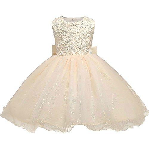 Cimenn Kinder Baby Prom Kleid, Mädchen Tüll Spitze Prinzessin Kleid Sleeveless Backless Kleid mit Bogen für Brautjungfer Party Prinzessin Prom Hochzeit (140) Brautjungfer Prom Kleid