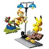 Mega Construx GCN12 - Construx Pokemon Panflam vs. Pikachu, Spielzeug ab 6 Jahren