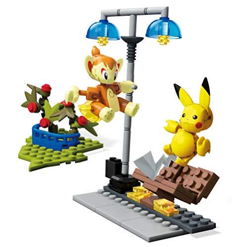 Mega Construx GCN12 - Construx Pokemon Panflam vs. Pikatchu, Spielzeug ab 6 Jahren