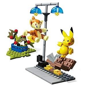 Mega Construx Pokémon Figuras Chimchar Vs. Pikachu, Juguetes de Construcción Niños +6 Años (Mattel GCN12)