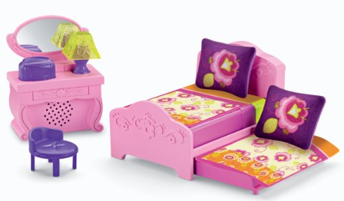 Fisher-Price Dora the Explorer Playtime Together Deluxe Dollhouse Furniture Set - Bedroom