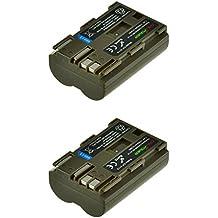 2x Chili Power BP-511, BP-511A (1700mAh) batería para Canon EOS 5d, 10d, 20d, 30d, 40d, 50d, 300d, D30, D60, Rebel, PowerShot G1, G2, G3, G5, G6, Pro 1, Pro 90, FV2–> FV400, FVM1, FVM10, ZR10–> ZR90
