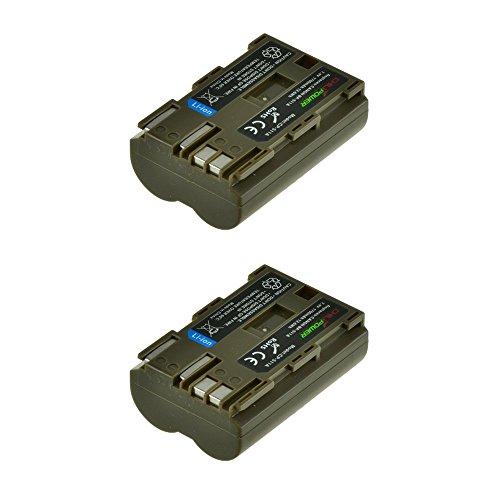 2X ChiliPower BP-511, BP-511A (1700mAh) Akku für Canon EOS 5D, 10D, 20D, 30D, 40D, 50D, 300D, D30, D60, Rebel, PowerShot G1, G2, G3, G5, G6, Pro 1, Pro 90, FV2 -> FV400, FVM1, FVM10, ZR10 -> ZR90 (40d Eos Canon Akku)