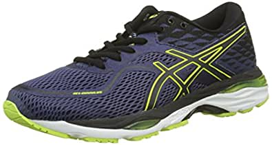 ASICS Gel-Cumulus 19, Chaussures de Running Compétition Homme, Bleu (Indigo Blue/Black/Safety Yellow 4990), 39 EU