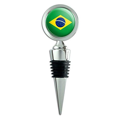 Brasilianische Flagge Landesflagge Flaschenverschluss für Weinflaschen